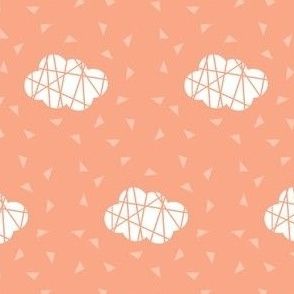 cloud on peach with lines