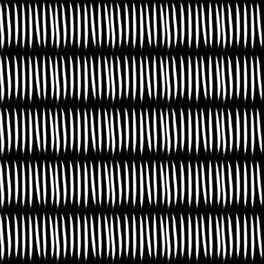 white tiger stripes on black