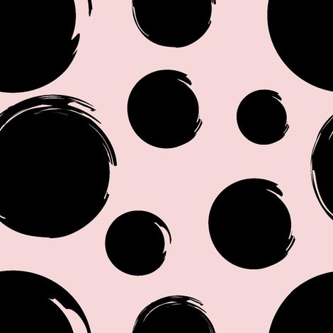 black_polka_dots_on_pink