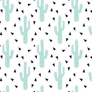 cactus mint tri triangle trendy design for minimal kids baby desert southwest