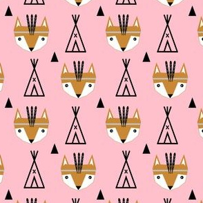 feathered fox pink