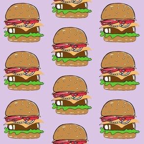 Burgers on purple