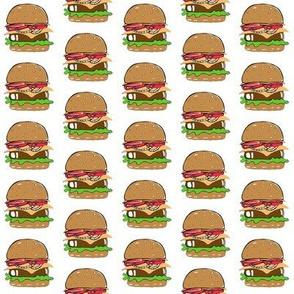 Tiny Burgers onWhite