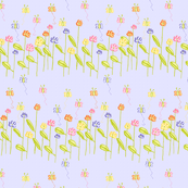 Fluttering Among the Flowers - Mauve