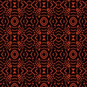 Fish in Dark Waters Orange Black