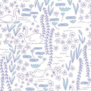 Swan Park in lilac/aqua