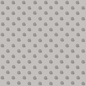Mini Me Grey Goth Dots