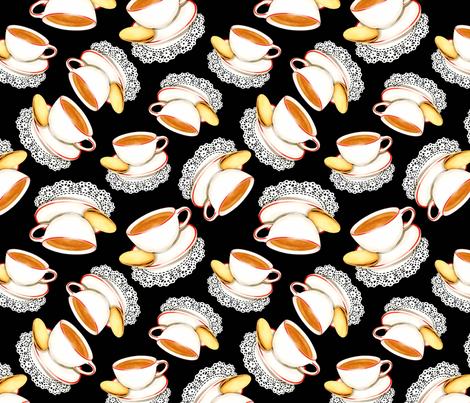 Twirling Teacups on Black