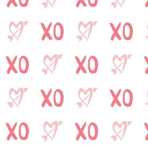 XO in Rose and Cherry Blossom Pink
