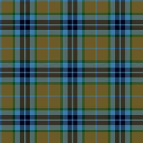 Thomson / Thompson / MacTavish tartan - olive/blue