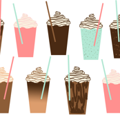 Iced Coffee (Small) - cute summer iced coffee pastel girly drinks