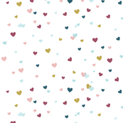 Confetti hearts // white