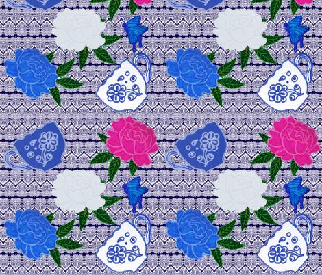 Garden party 001 fabric sweet peaart999 spoonflower for Garden party fabric by blackbird designs