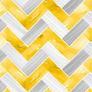 Herringbone Parquetry - Gold