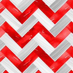 Herringbone Parquetry - Red