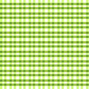 Tiny green pepper gingham