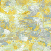 abstract paint swirls in yellow, grey and slate