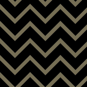 Chevron black/brown