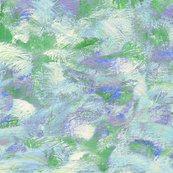 abstract paint swirls - blue and green