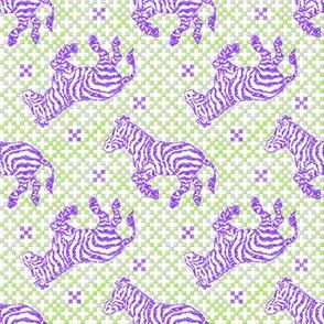 Zebra Charcoal Purple/Lime~ Paris Bebe