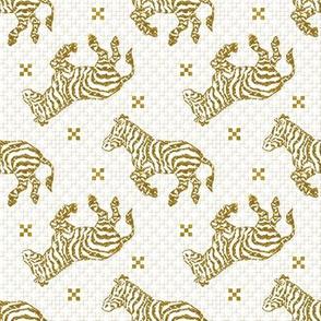 Zebra Charcoal Gold~ Paris Bebe