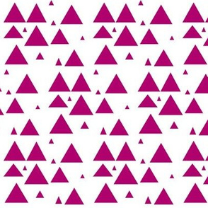 Magenta Scattered Triangles