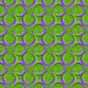 Circles on Dill Pickle Green