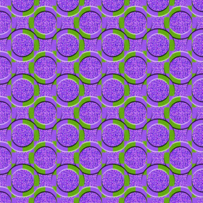 Circles on Pickled Purple