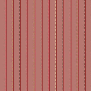 Joy_stitched stripe_red