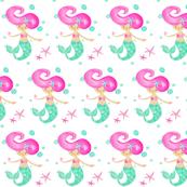 Bubbles-mermaid rows