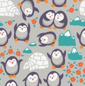 funny penguins in summer