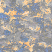 abstract paint swirl - grey, blue and peach