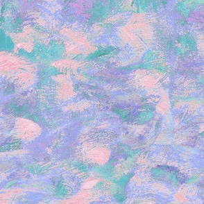 abstract paint swirls - pink, purple and teal