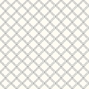 Trellis Grey Mist and Cream