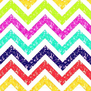 Sparkle Chevron blue red gold pink turquoise LARGE