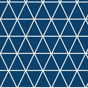 Kahn-Inspired Triangles, blue, large