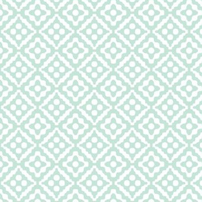 small tribal diamonds - pale aqua