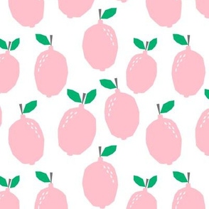 pink lemonade - pastel pink girly citrus lemon print