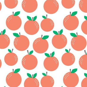 oranges - coral fruit tropical summer trendy print
