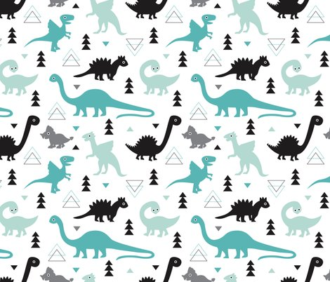 Adorable dino boys fabric with black and blue dinosaur for Little boy fabric