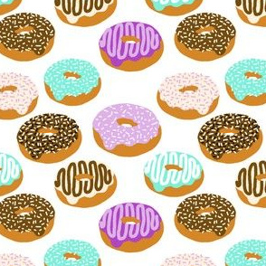 donuts purple lavender green chocolate food print