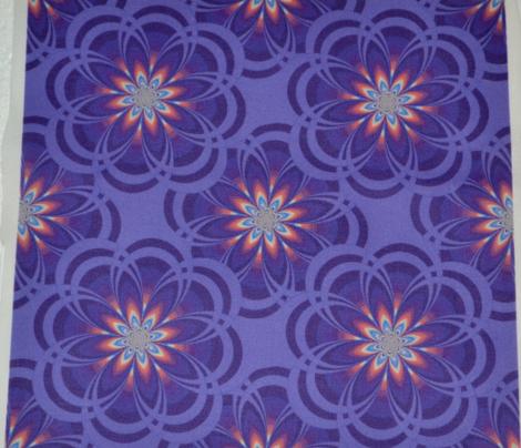 Violet Fractal Flowers