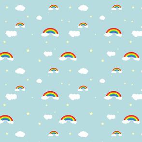 Rainbow Sky with Stars