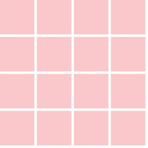 heavyweight grid - ballet pink and white