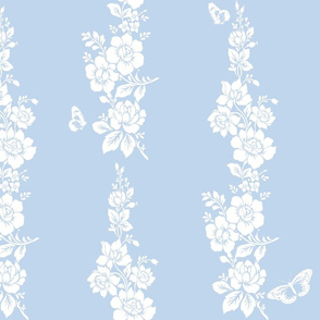 Simone Chinoiserie on blueberry blue