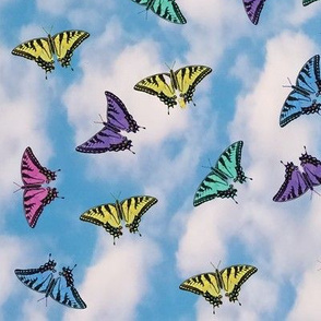 Floating Multicolored Butterflies Giftwrap