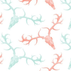 DigSkullery ~ Skirmish ~ Mint and Coral