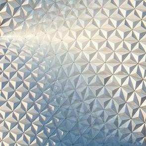 Silver sphere dome