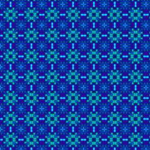 New flower design 13.5x13.5 150 Black&Blue 07