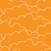 Cloudy Skies - Orange